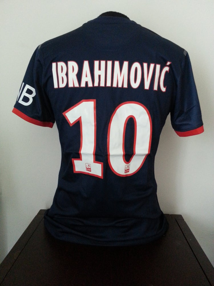 newest 2886c f5947 Ibrahimovic PSG 2013/2014 Season Home Jersey, Adult Size M