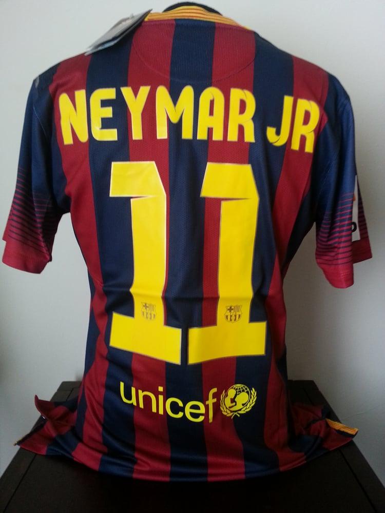 best service cd596 7dab8 Barcelona Neymar Jr 13/14 Season Home Jersey