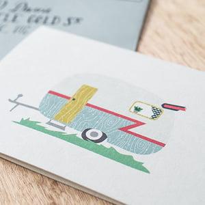 Image of Caravan Greeting Card