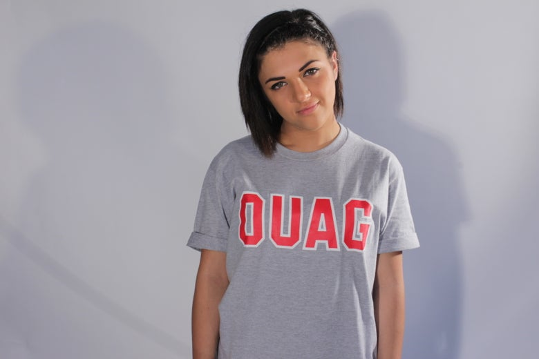 "Image of Grey ""OUAG"" initals t-shirt"