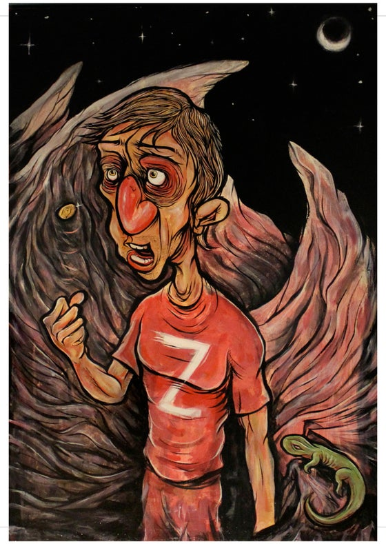 "Image of ""Angel Z"" by Sam Clouston A3 Print on Card"