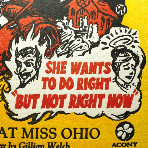 Image of Look At Miss Ohio - Official Acony Records Gillian Welch Songprint
