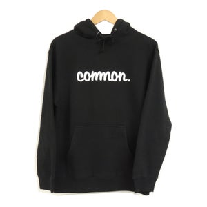 Image of COMMON HEAVYWEIGHT BLACK HOODIE