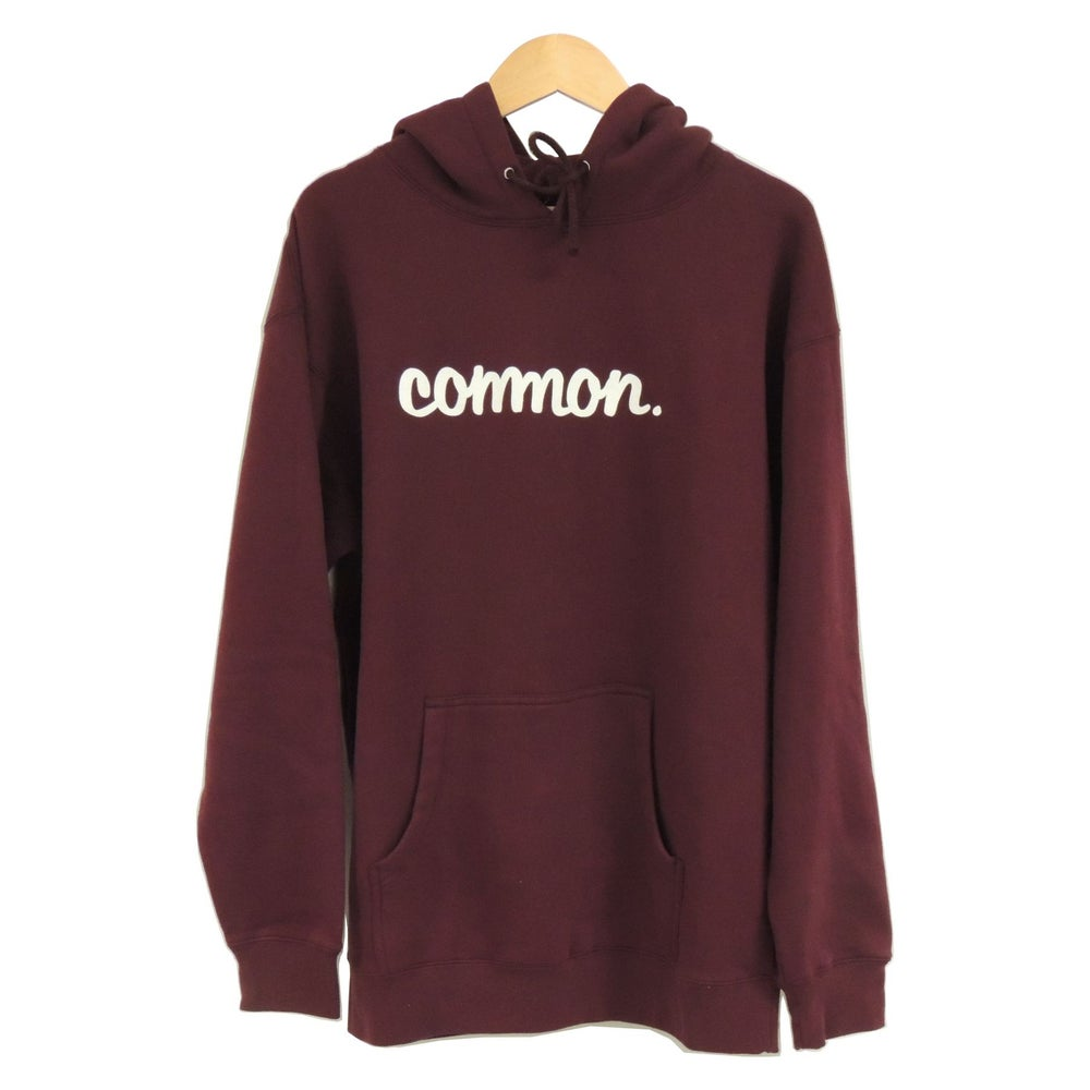 Image of COMMON HEAVYWEIGHT BURGUNDY HOODIE
