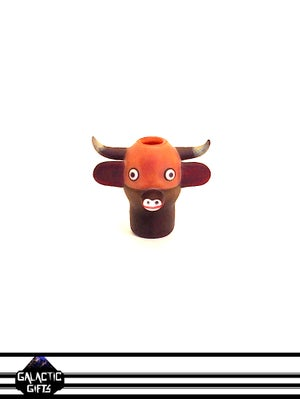 Image of Clinton Roman Moo Cow Glass Collector Sculpture (Clinton's Pieces)