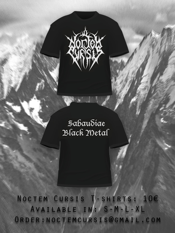 Image of TS (cotton) Noctem Cursis - Sabaudiae Black Metal