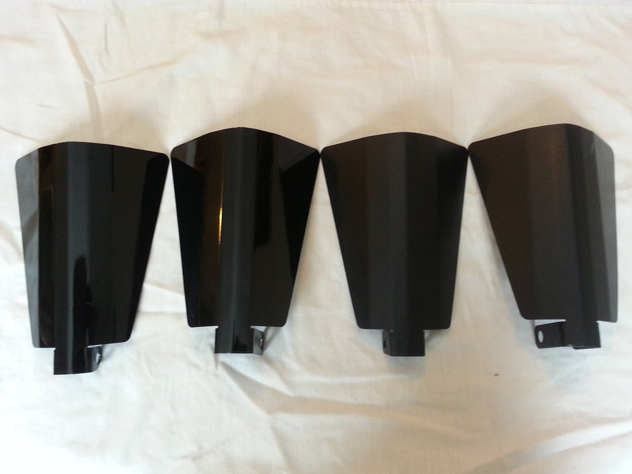 Image of Stainless Steel Powdercoated Standard Cut Wind Guards