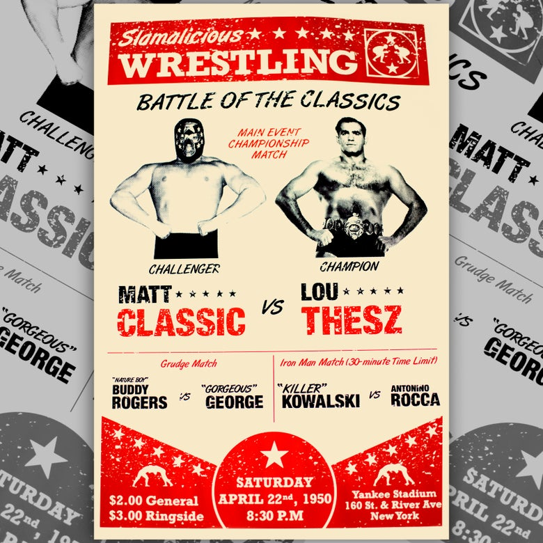Image of Slamalicious Wrestling: Battle of the Classics!