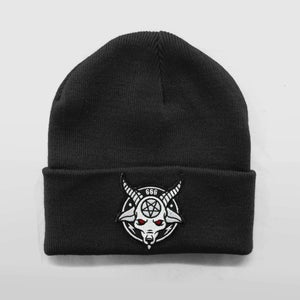 Image of Black Rams Head Beanie