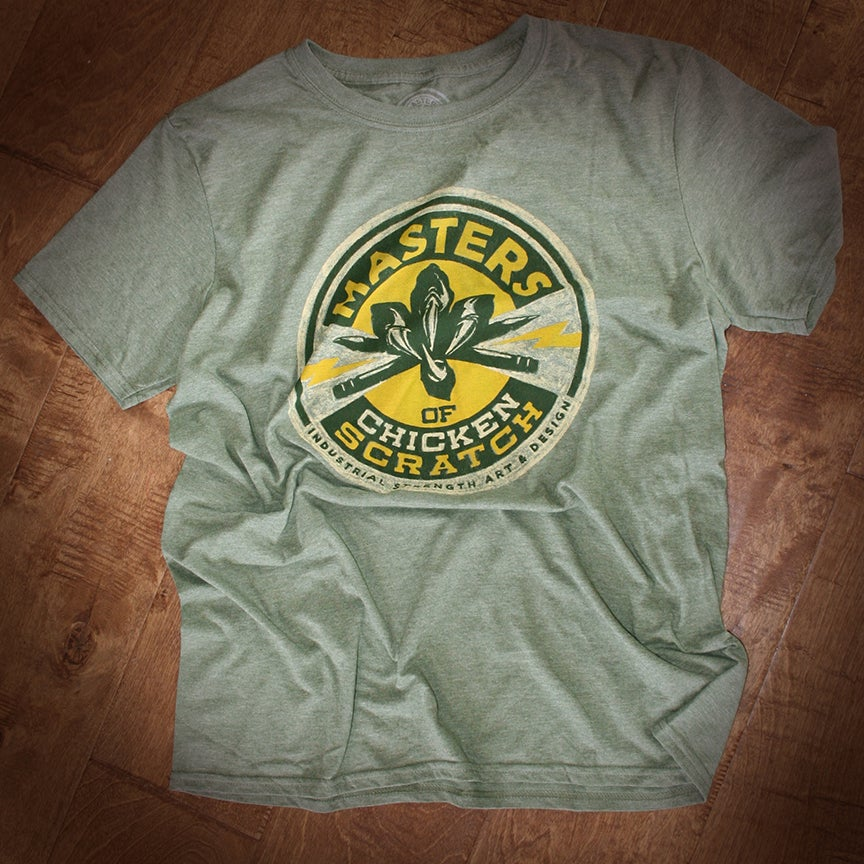 Image of Heather MOCS Logo shirt Military Green