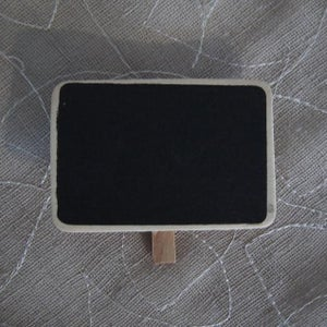 Mini Chalkboard Pegs (7 pieces)