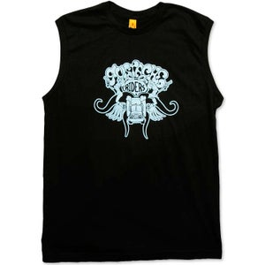 Image of MUSTACHE RIDERS - men's black & blue sleeveless