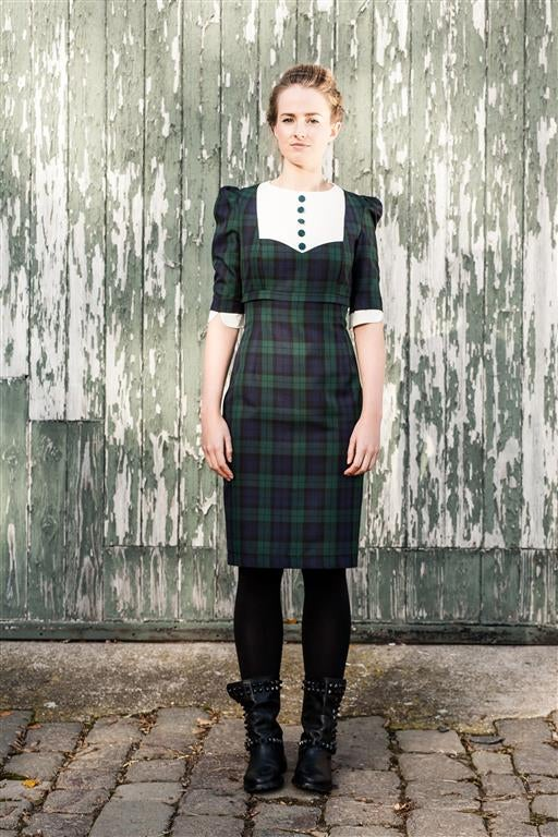 Image of Tartan Bib Dress