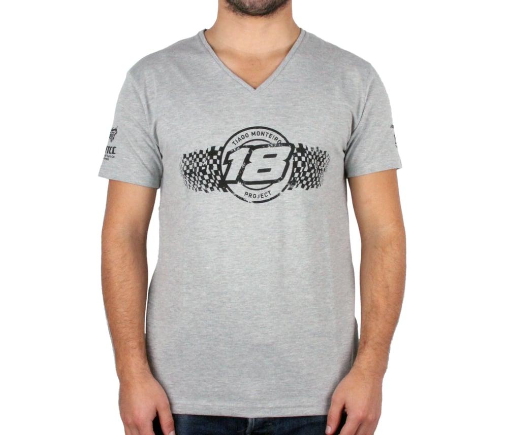 """Image of Tiago Monteiro Unisex """"Corrosive"""" V-neck  T-Shirt"""