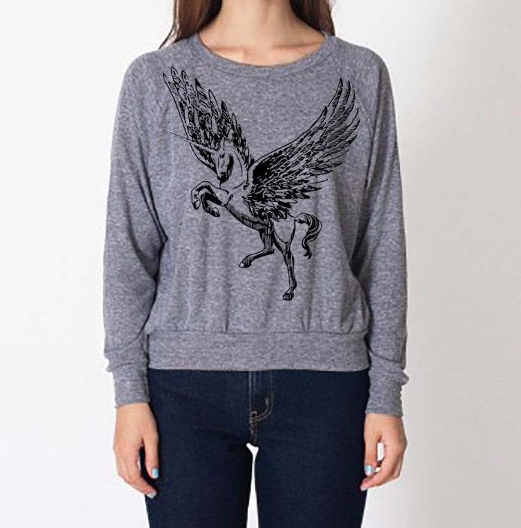 Image of Pegacorn Raglan - Kids/Adult