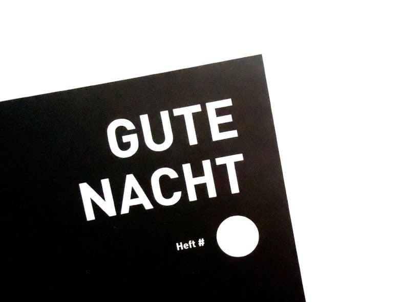 Image of TAGEBUCHHEFT Gute Nacht