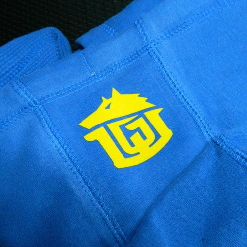 Image of GAME-WORN Pullover Hoodie - Varsity Blue/Yellow
