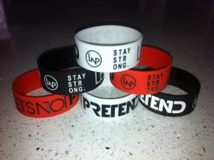 Image of Brand New 'STAY STRONG & Logo' Wristbands
