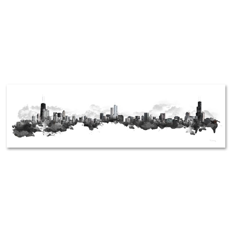 Image of Chicago Watercolor Skyline