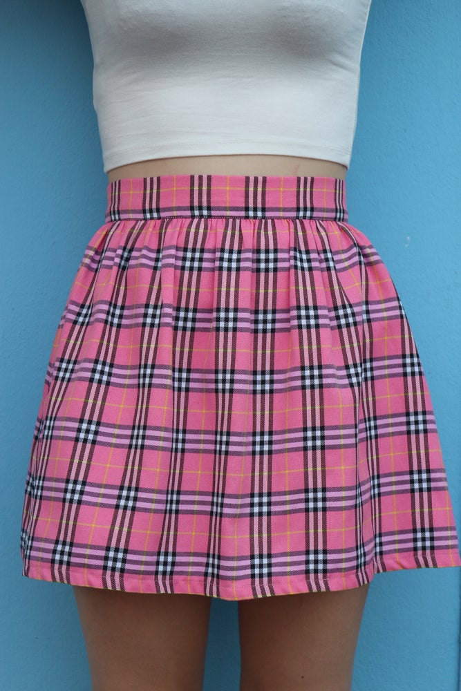 Image of Made To Order - Clueless Inspired Pink Tartan Skirt
