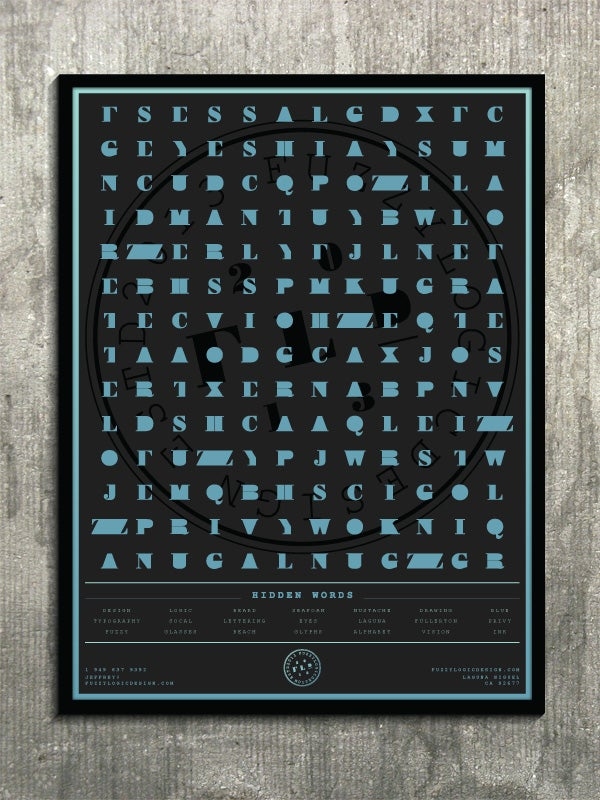 Image of 18x24 FLD Puzzle Poster, Word Search