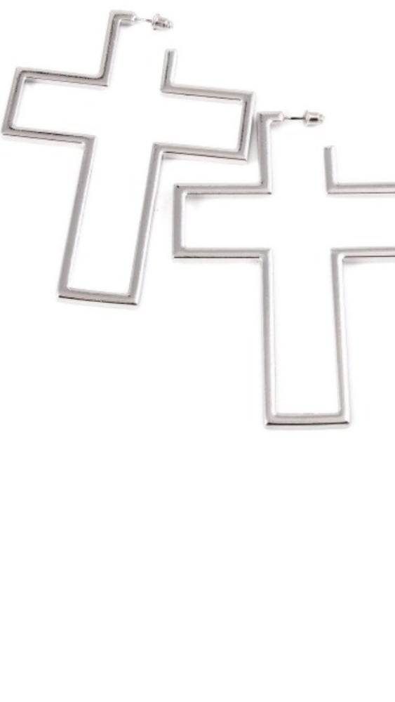 Image of Cut Out Cross earrings