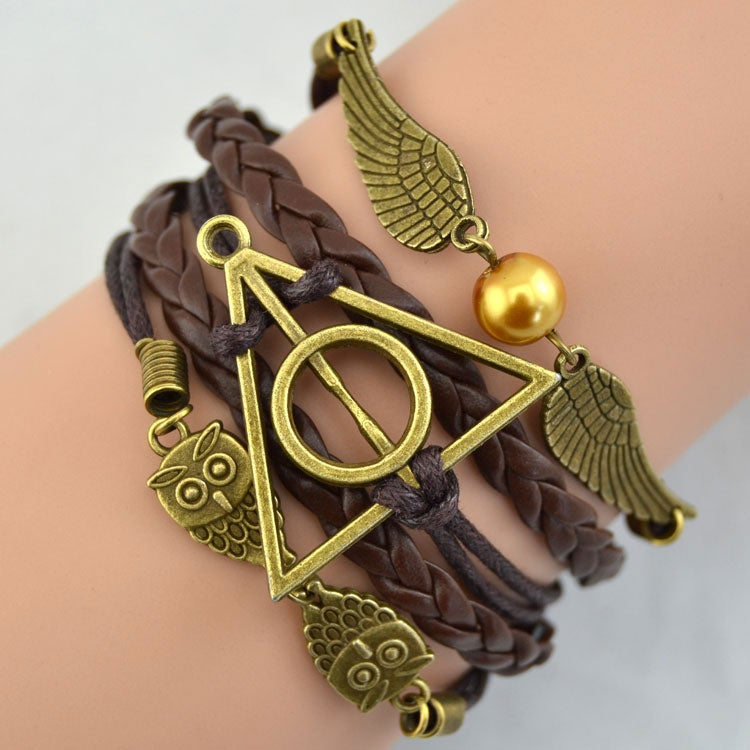 Image of Fashion Deathly Hallows Wings Owl Bracelet