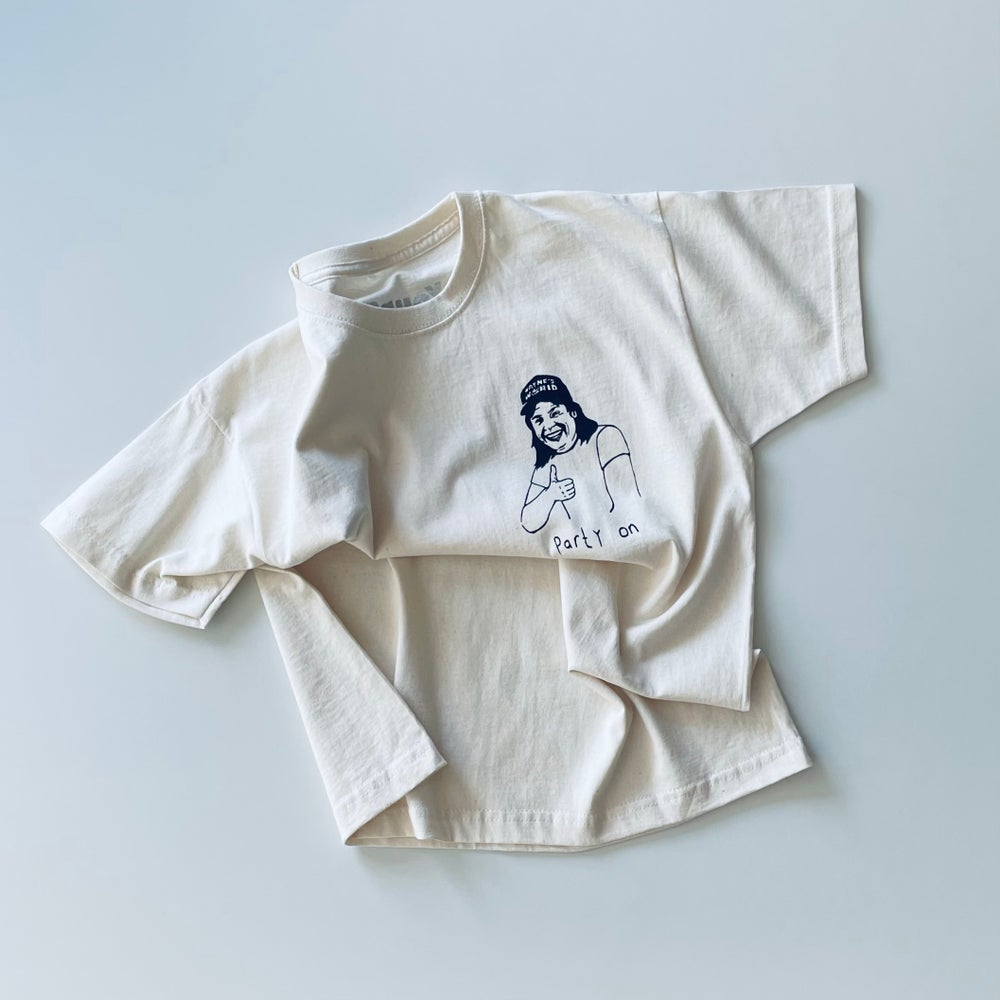 Party T-shirt in Raw Cotton
