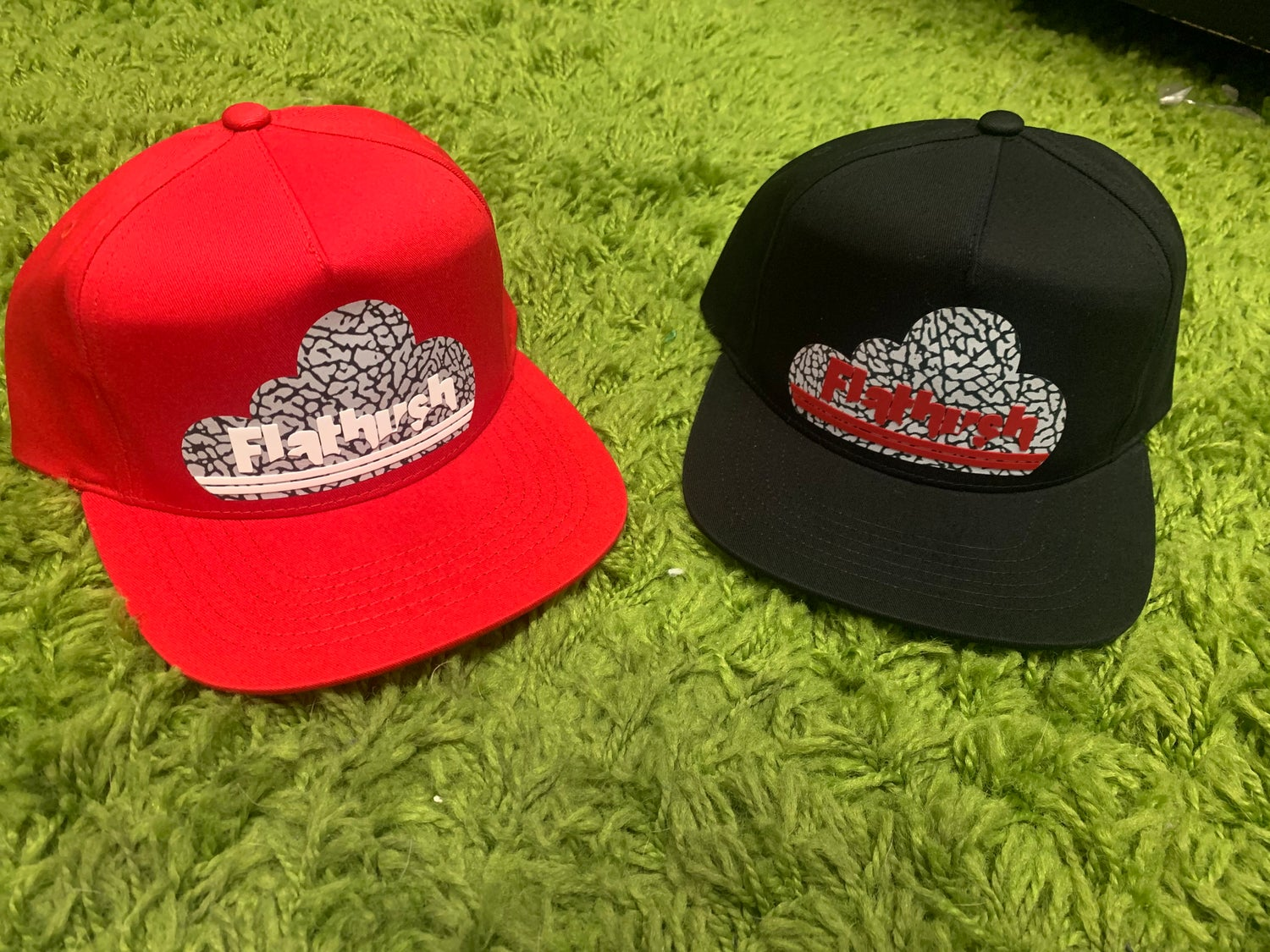 Image of Welcome To Flatbush Snapback Limited Edition Red/Cement/White