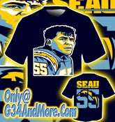 Image of Junior Seau(NFL legend) obey style tribute shirt