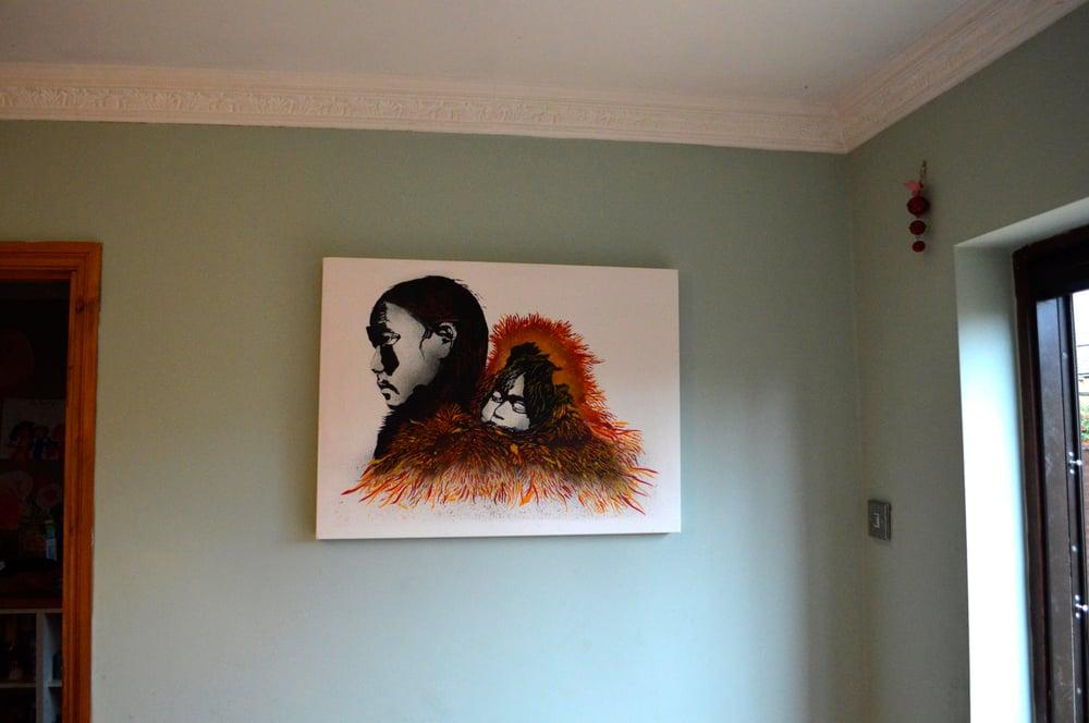 """Image of """"Safe & Sound"""" - Original Canvas"""