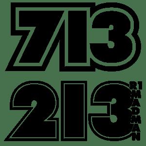 Image of Racing Number Vinyl Decals
