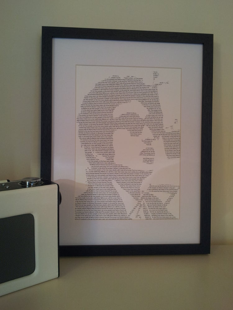 Image of Bob Dylan / Blowin' In The Wind Print