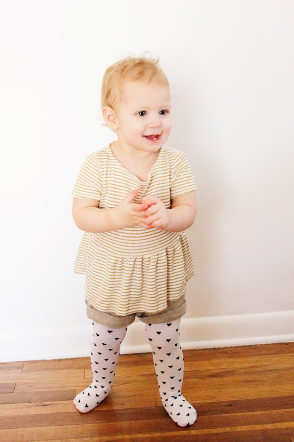 Image of girl's PIPPA peplum knit top 3M to 10