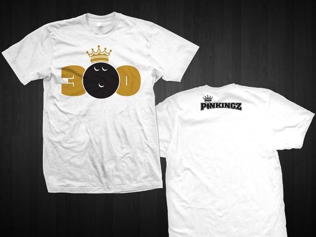 Image of Pinkingz Bowling 300 T-Shirt