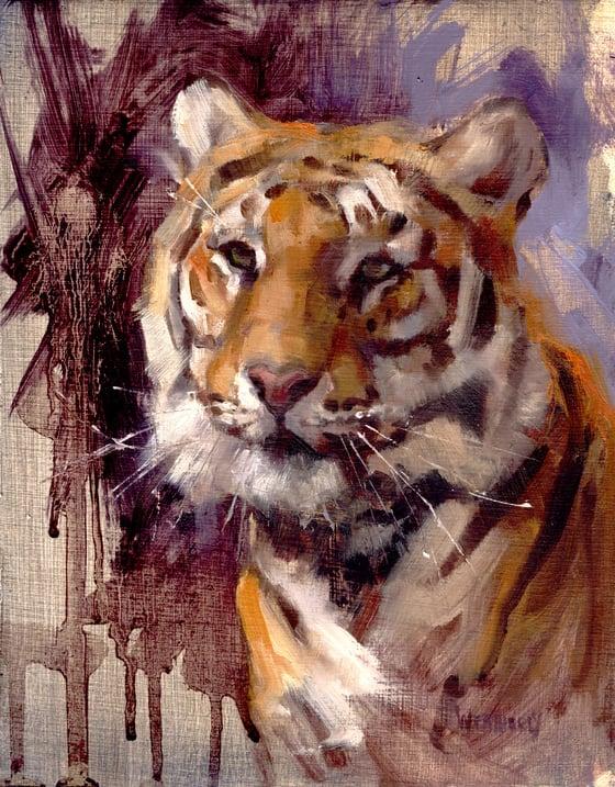 "Image of Tiger Head portrait 8.5""X11"""