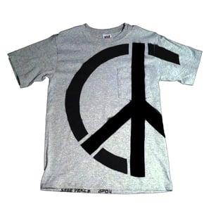 Image of UNISEX Grey Side-Peace Pocket T