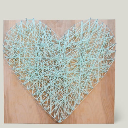 Image of Heart Shape Yarn Art