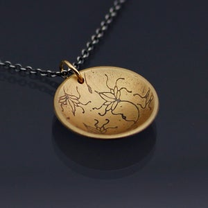 Image of 14k Gold and Sterling Vine Lace Necklace
