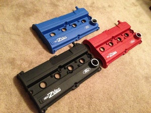 Image of Ford Focus Wrinkle Red Powdercoated Zetec Valve Cover