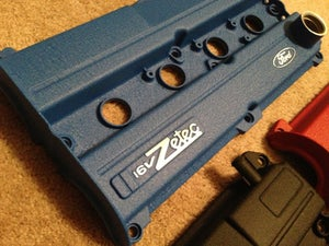 Image of Ford Focus Wrinkle Black Powdercoated Zetec Valve Cover