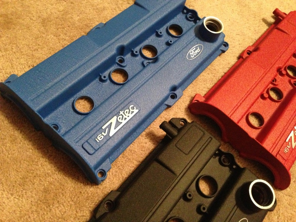 Image of Ford Focus Wrinkle Black Powdercoated Zetec Valve Cover