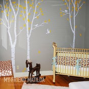 Image of Birch Forest Tree set of 3