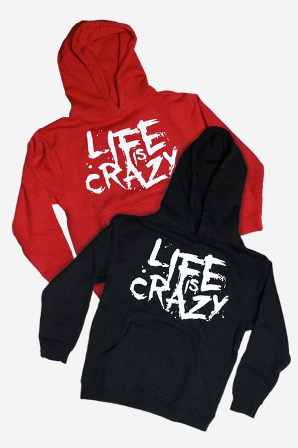 Image of Life is Crazy Kids Hoodie