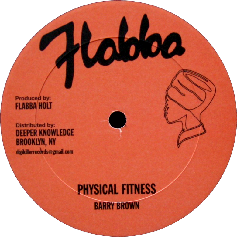 "Image of Barry Brown / Roots Radics Band - Physical Fitness / Fighting Radics / Whip Them 12"" (Flabba)"