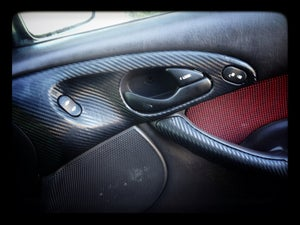 Image of Ford Focus 2000-2007 Carbon Fiber Interior Grab Handles (2x set)