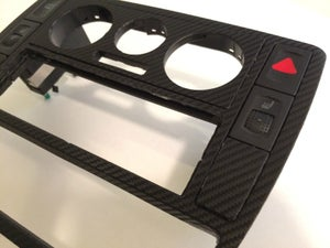 Image of VW Passat B5, B5.5 1996-2004 Carbon Fiber Radio Surround / LED Conversion