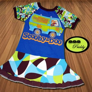 Image of **SOLD OUT ** Scooby-Doo Mystery Machine Twirl Dress - size 5/6