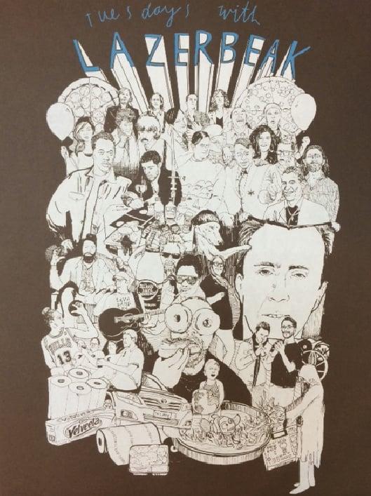 "Image of Lazerbeak ""Tuesdays With Lazerbeak"" Screenprinted Poster"