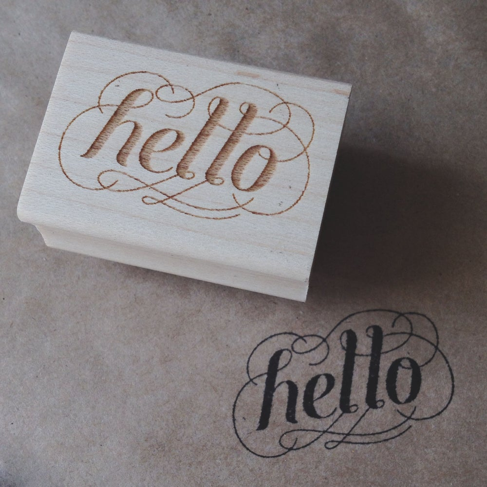 Image of Hello Stamp